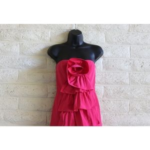 BCBGMaxAzria Dresses - BCBG MaxAzria NWT 80's hot pink rose ruffle dress